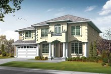 Dream House Plan - Prairie Exterior - Front Elevation Plan #132-436