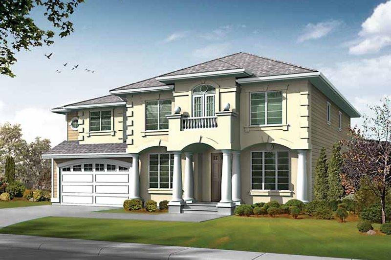 Dream House Plan - Prairie Exterior - Front Elevation Plan #132-436