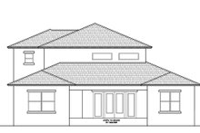House Plan Design - Contemporary Exterior - Rear Elevation Plan #938-92