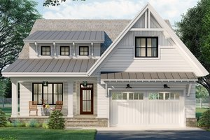 House Blueprint - Farmhouse Exterior - Front Elevation Plan #51-1165