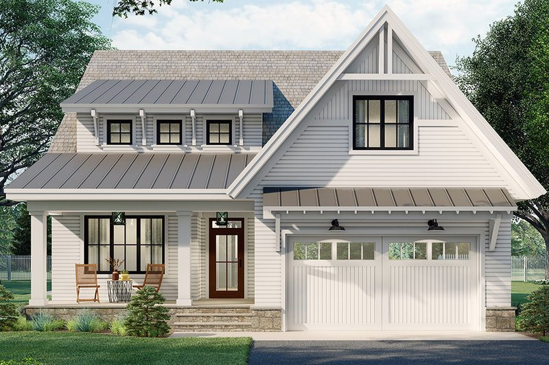 Home Plan - Farmhouse Exterior - Front Elevation Plan #51-1165