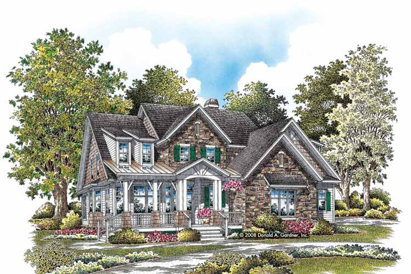 Craftsman Exterior - Front Elevation Plan #929-833 - Houseplans.com