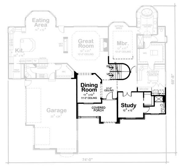 Home Plan Design - European Floor Plan - Other Floor Plan #20-2125