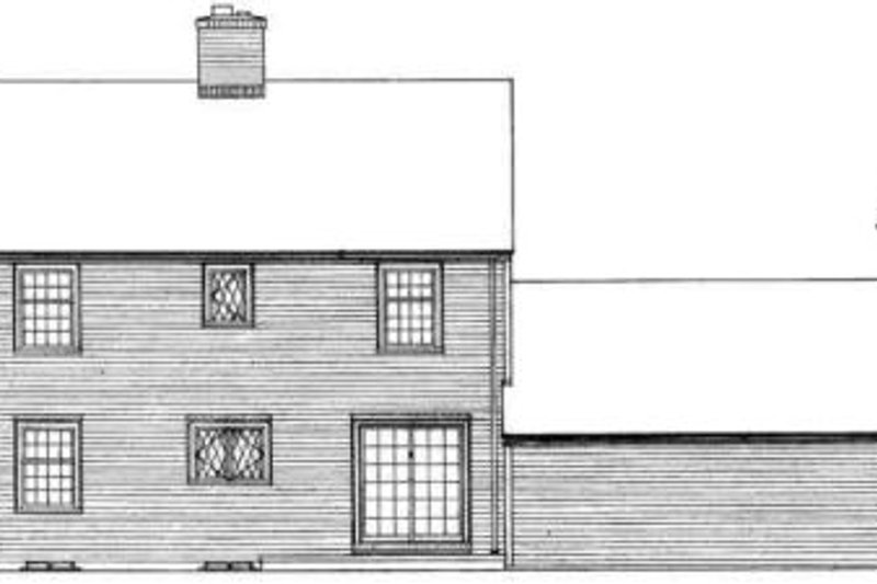 Colonial Exterior - Rear Elevation Plan #72-211 - Houseplans.com