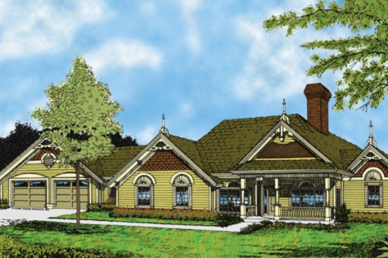 Victorian Exterior - Front Elevation Plan #417-464 - Houseplans.com