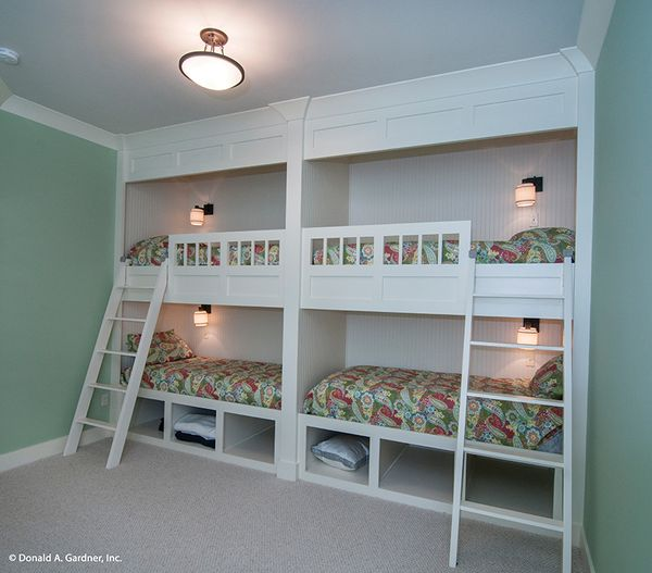 Craftsman Floor Plan - Lower Floor Plan #929-407
