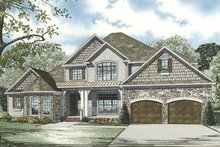 Architectural House Design - Country Exterior - Front Elevation Plan #17-3283