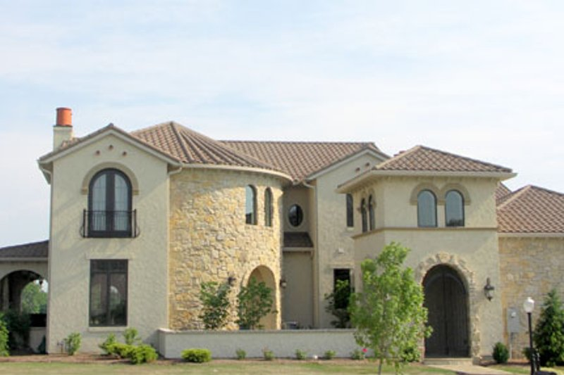 European Style House Plan - 4 Beds 5.5 Baths 6102 Sq/Ft Plan #458-8 Exterior - Front Elevation