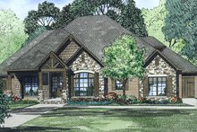 Dream House Plan - Craftsman Exterior - Front Elevation Plan #17-3391