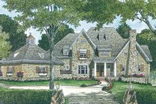 Country Exterior - Front Elevation Plan #453-403