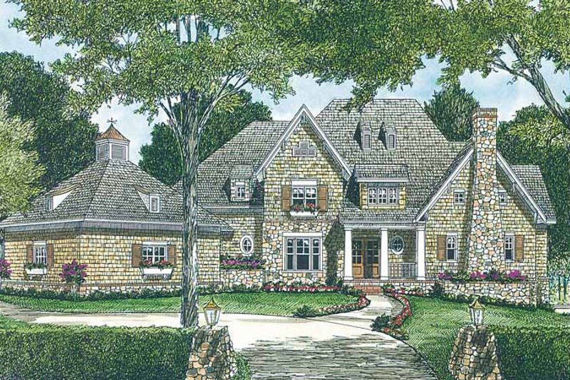 Architectural House Design - Country Exterior - Front Elevation Plan #453-403