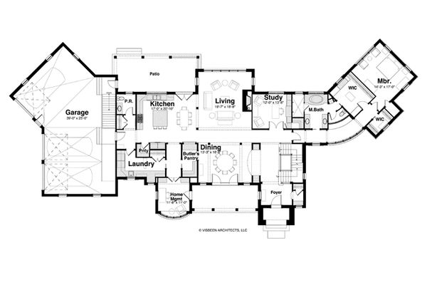 Country Style House Plan - 4 Beds 4.5 Baths 5008 Sq/Ft Plan #928-265 Floor Plan - Main Floor Plan