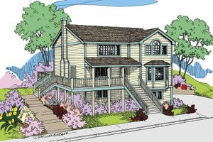 Dream House Plan - Traditional Exterior - Front Elevation Plan #60-1009
