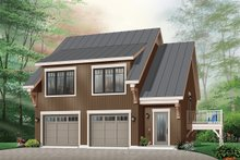 Home Plan - Traditional Exterior - Front Elevation Plan #23-444