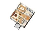 European Style House Plan - 3 Beds 1 Baths 1456 Sq/Ft Plan #25-4469