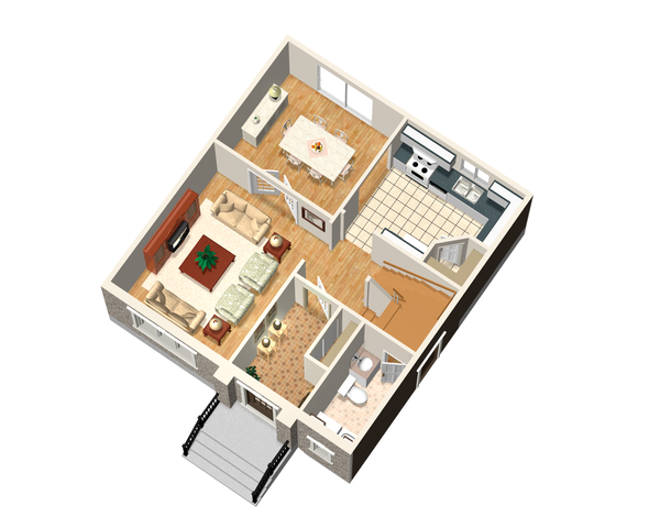 European Floor Plan - Main Floor Plan #25-4469
