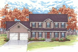 Dream House Plan - Traditional Exterior - Front Elevation Plan #435-15