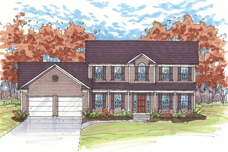 Traditional Exterior - Front Elevation Plan #435-15 - Houseplans.com