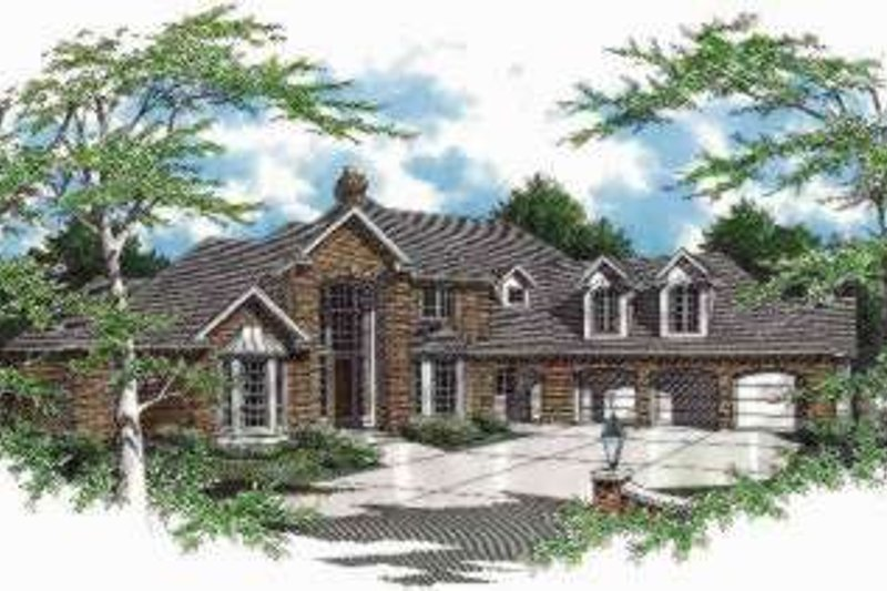 Traditional Exterior - Front Elevation Plan #48-149 - Houseplans.com