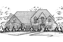 European Exterior - Front Elevation Plan #20-2276