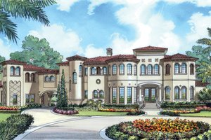 Dream House Plan - European Exterior - Front Elevation Plan #417-798
