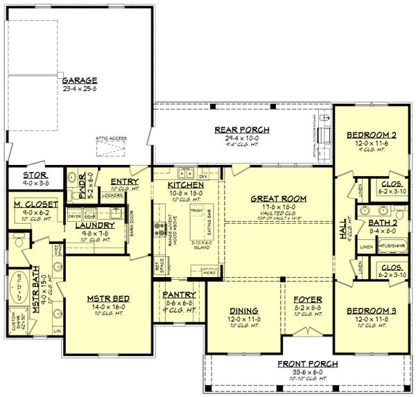 Home Plan - Farmhouse Floor Plan - Main Floor Plan #430-208