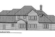 European Style House Plan - 4 Beds 2.5 Baths 3527 Sq/Ft Plan #70-503 Exterior - Rear Elevation