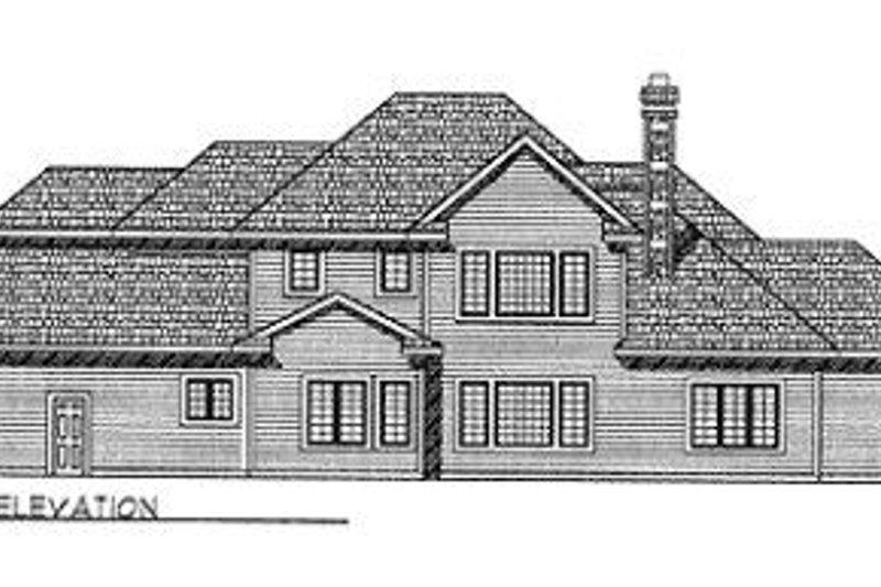 European Exterior - Rear Elevation Plan #70-503 - Houseplans.com
