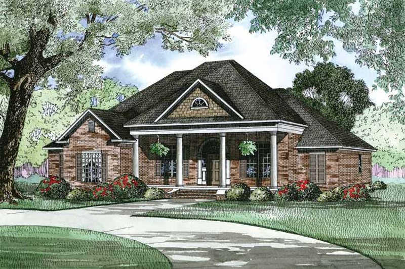 Dream House Plan - Traditional Exterior - Front Elevation Plan #17-2890