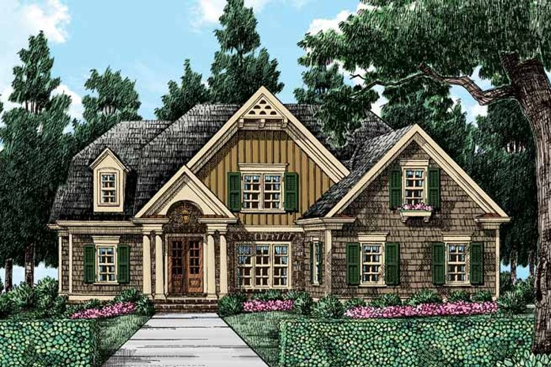 Colonial Exterior - Front Elevation Plan #927-407 - Houseplans.com