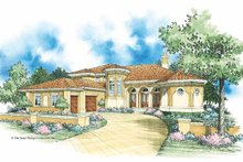 Mediterranean Exterior - Front Elevation Plan #930-355
