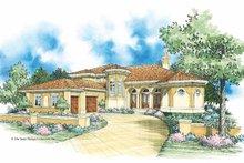 House Plan Design - Mediterranean Exterior - Front Elevation Plan #930-355