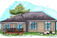 Ranch Exterior - Rear Elevation Plan #70-1031