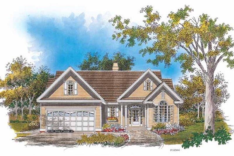 House Plan Design - Ranch Exterior - Front Elevation Plan #929-629