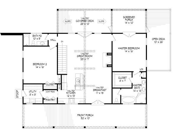 Dream House Plan - Traditional Floor Plan - Main Floor Plan #932-421