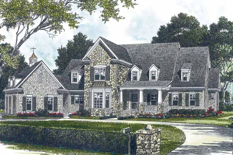 Craftsman Exterior - Front Elevation Plan #453-428
