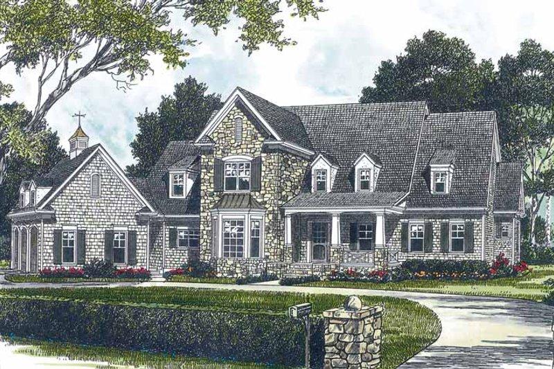 Dream House Plan - Craftsman Exterior - Front Elevation Plan #453-428