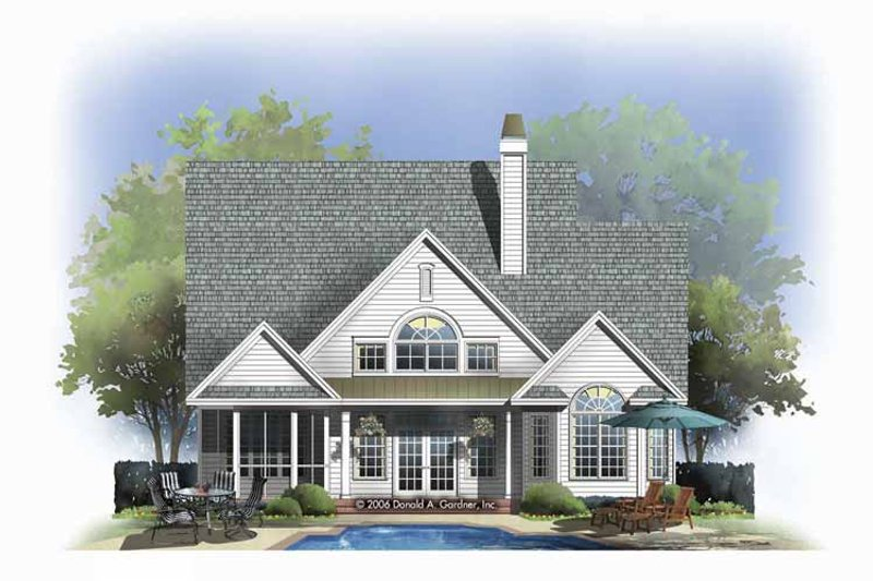 Traditional Exterior - Rear Elevation Plan #929-805 - Houseplans.com