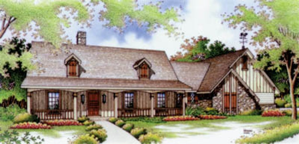 Country Style House Plan - 3 Beds 2 Baths 1600 Sq/Ft Plan ...