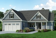 Architectural House Design - Ranch Exterior - Front Elevation Plan #929-1090