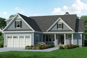 Ranch Exterior - Front Elevation Plan #929-1090