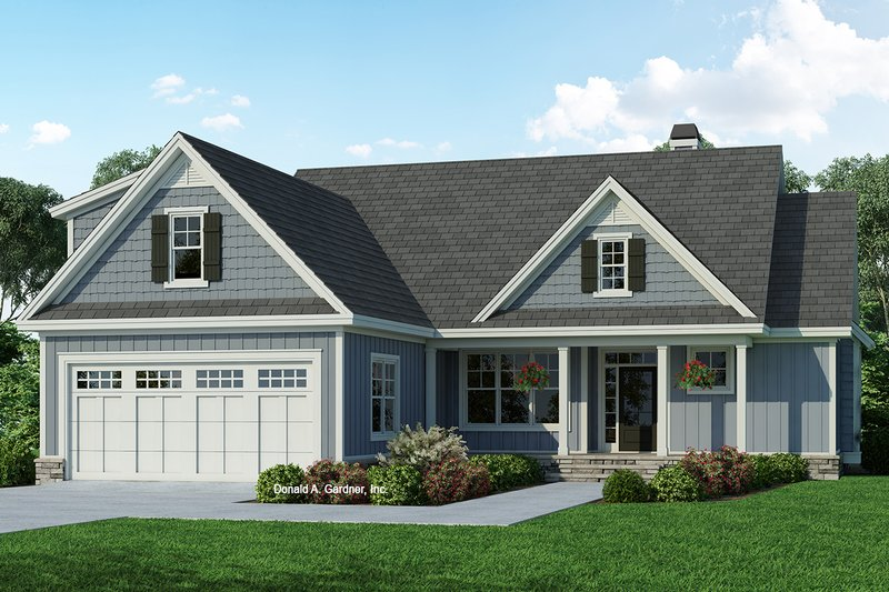 Home Plan - Ranch Exterior - Front Elevation Plan #929-1090