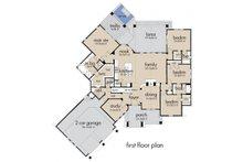 Craftsman style house plan, main level floor plan