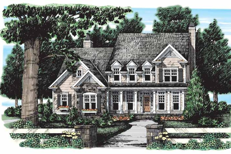 Home Plan - Country Exterior - Front Elevation Plan #927-164