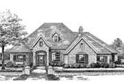 European Style House Plan - 4 Beds 3.5 Baths 2585 Sq/Ft Plan #310-851 Exterior - Front Elevation