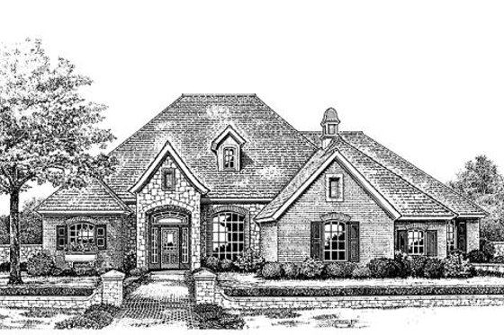 European Exterior - Front Elevation Plan #310-851
