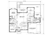 European Style House Plan - 5 Beds 4 Baths 2061 Sq/Ft Plan #5-266 Floor Plan - Main Floor Plan