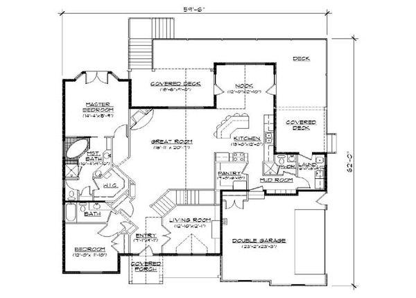 House Plan Design - European Floor Plan - Main Floor Plan #5-266
