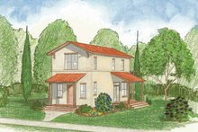Country Exterior - Front Elevation Plan #1042-3