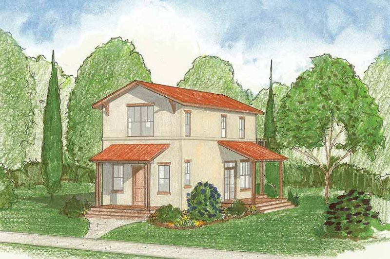 Architectural House Design - Country Exterior - Front Elevation Plan #1042-3